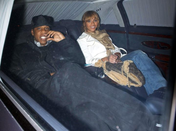 Beyonce & Jay Z Kickin' It In The Maybach.