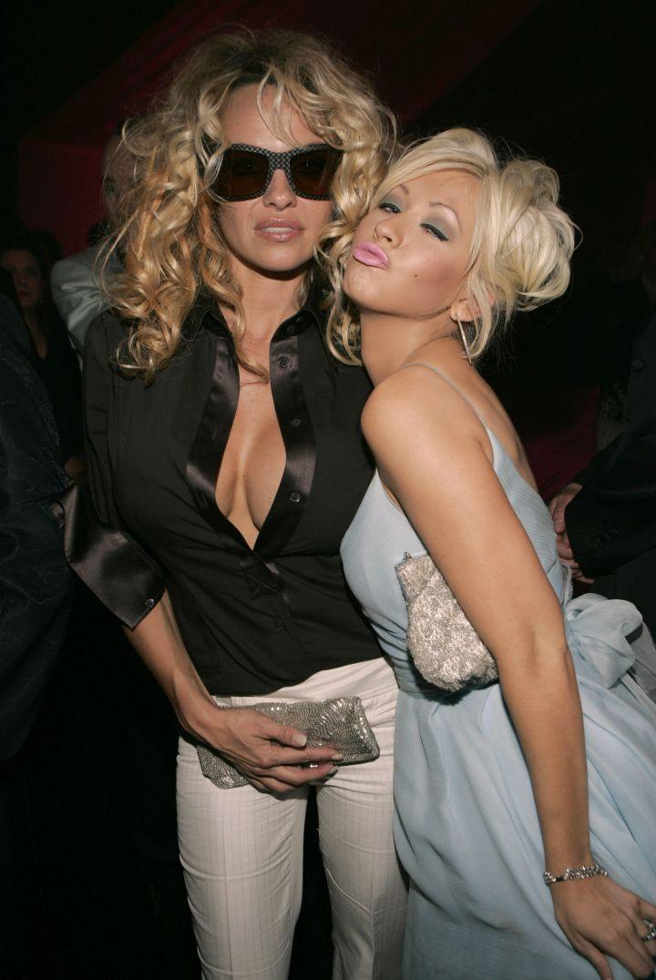Pam Anderson & Christina Aguilera