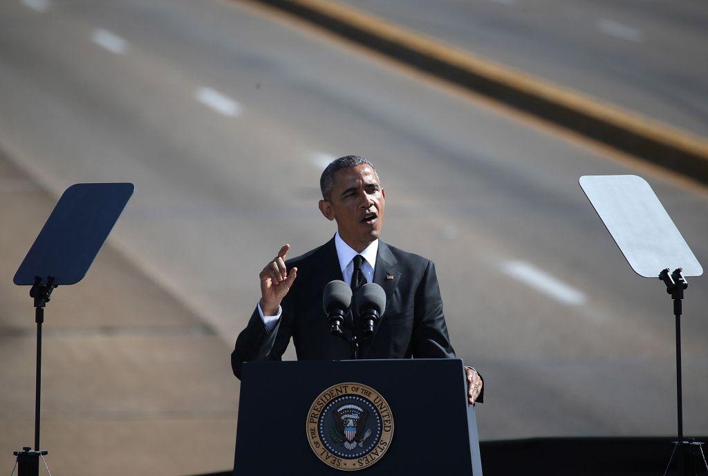 President Obama Makes Speech In Selma March 2015