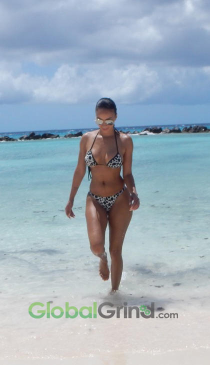 Draya struts her stuff on the beaches of Aruba as she prepares for a new film role.