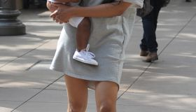 Ciara takes her son Future to the Grove in Los Angeles