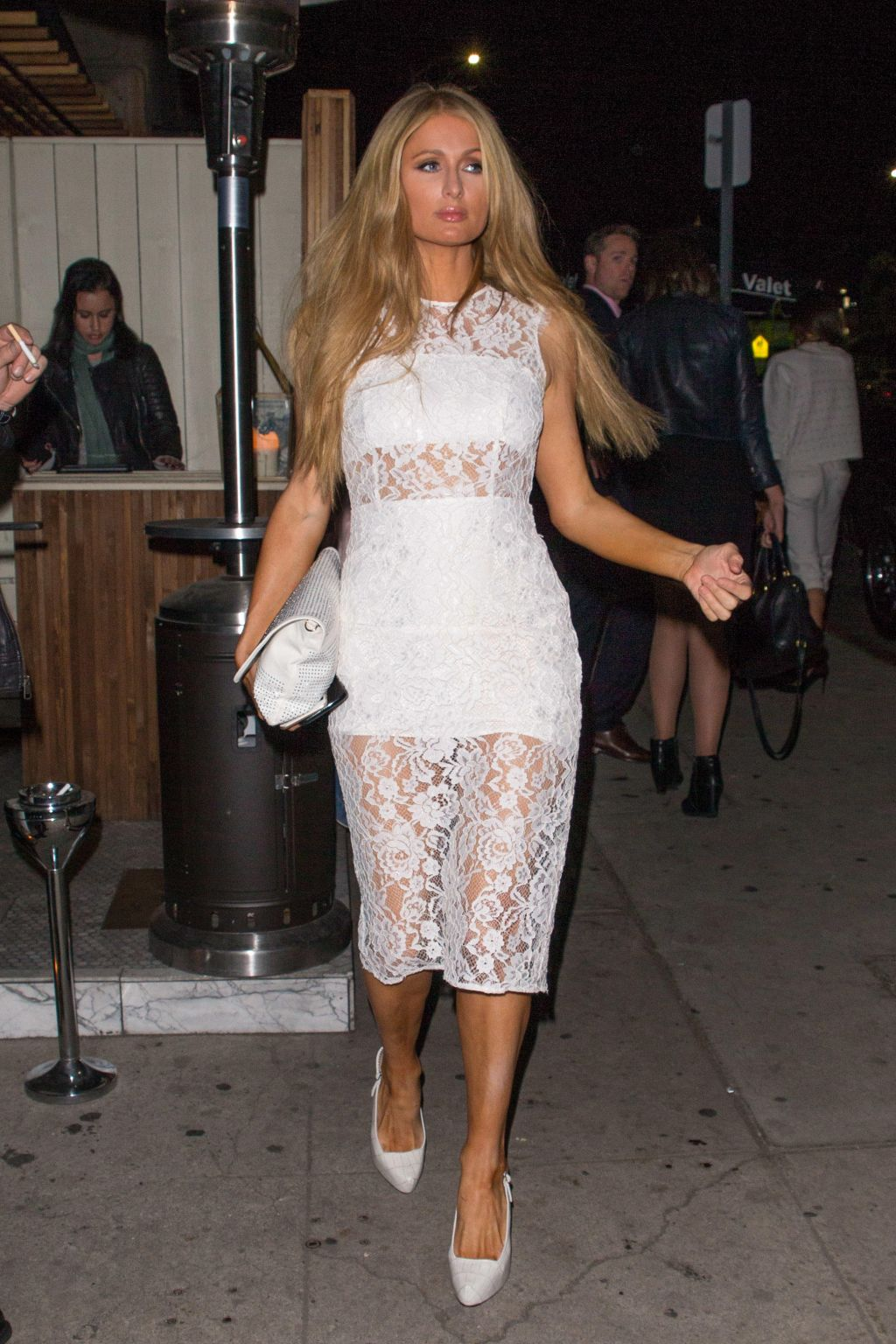 Paris Hilton spotted leaving Mr Nice Guy in West Hollywood