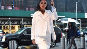 Rihanna out promoting her animated movie HOME in NYC.