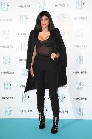 Kylie Jenner at Nip and Fab launch in London