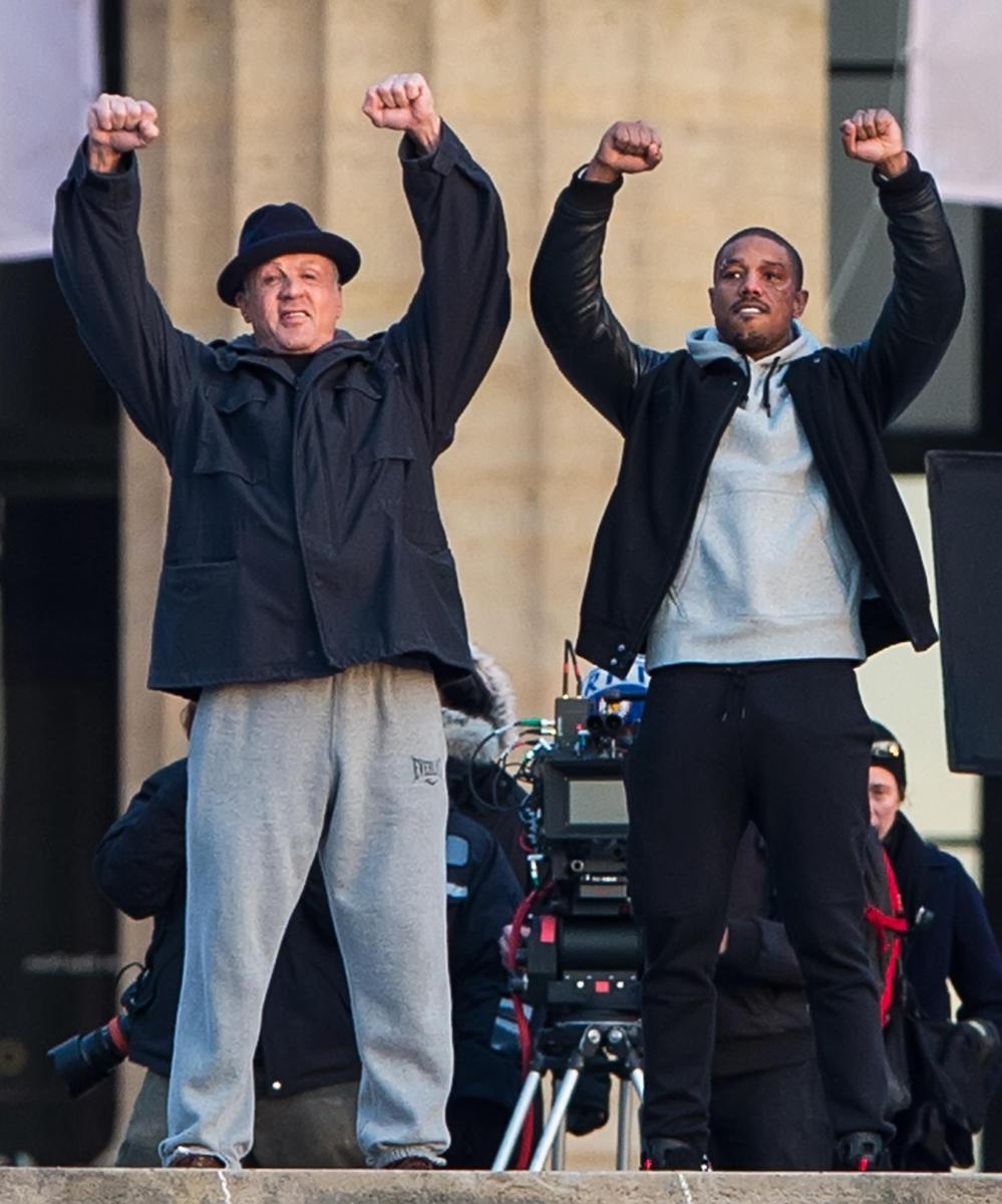 Michael B. Jordan Sylvester Stallone Creed set