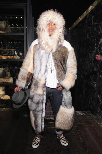 High fashion fur at a Moncler show.