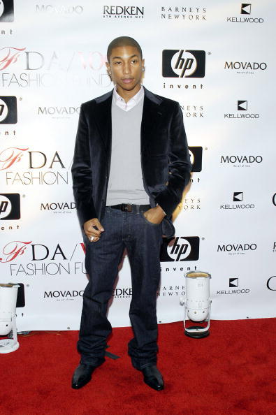 Pharrell has always cleaned up nice.
