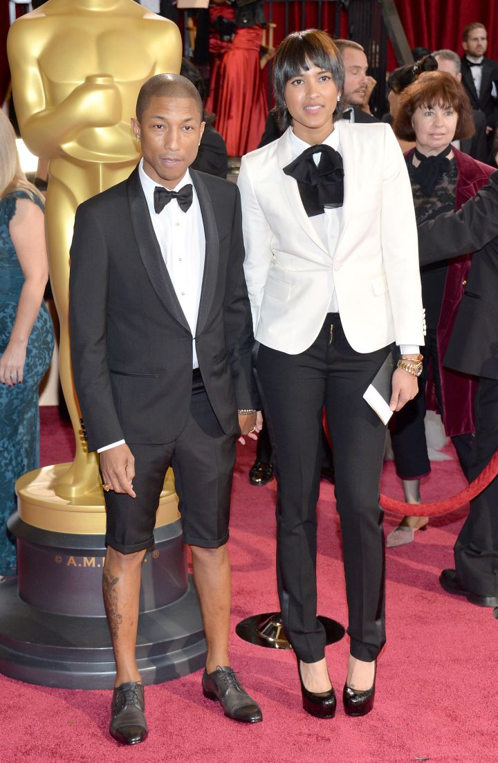 When his pants were shorter than his wife's on the red carpet.