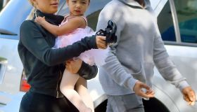 Kim, Kanye, and Kourtney take North and Penelope to ballet class