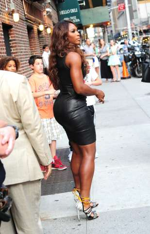 Serena Williams leaving 'The Late Show with David Letterman'