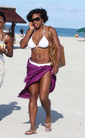 Serena Williams and Kelly Rowland sunbathing in Miami Beach