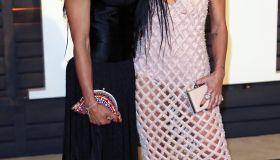 Zoe Kravitz and mother Lisa Bonet at 2015 Vanity Fair Oscar Party