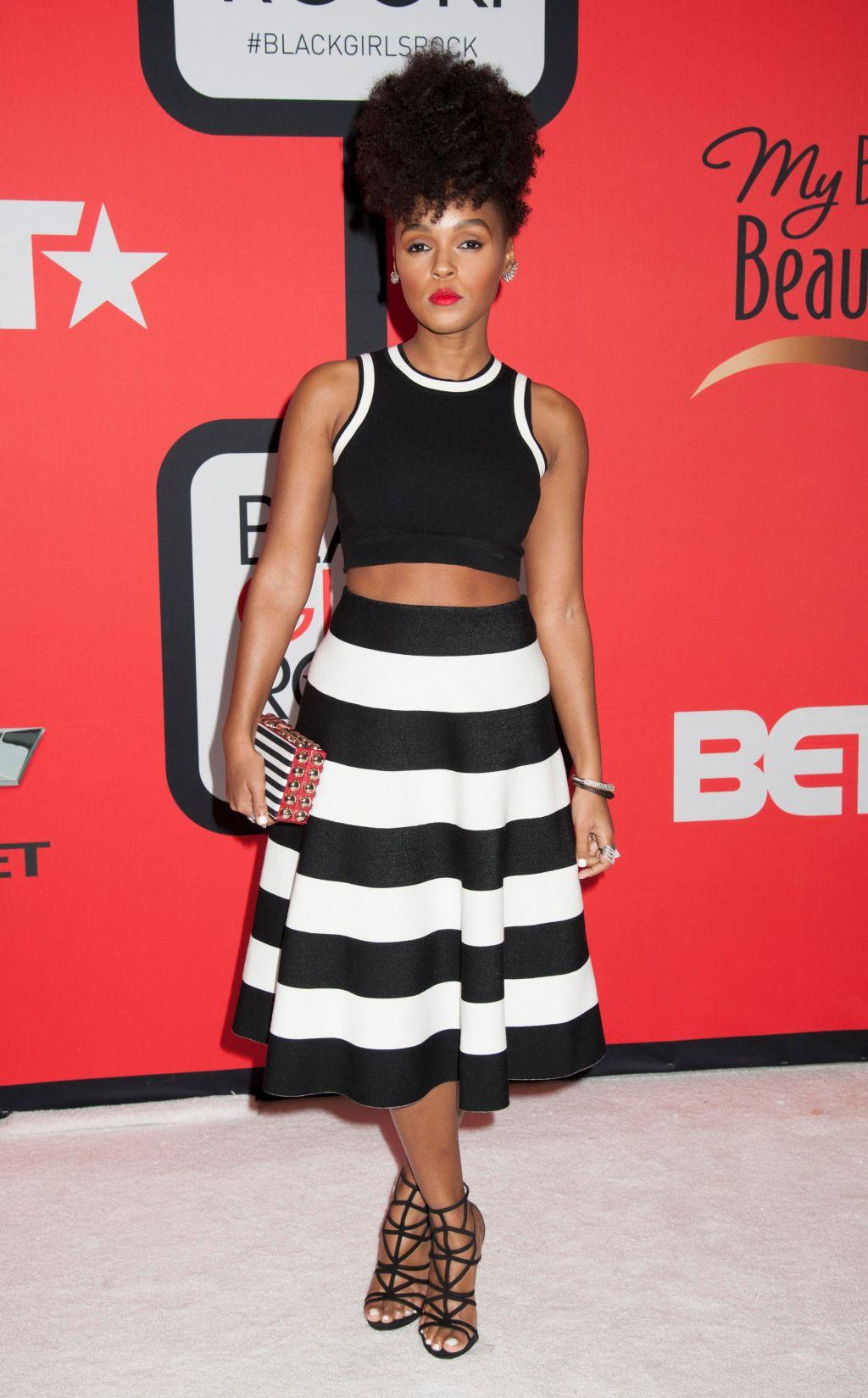 Janelle Monae -Red carpet at BET's Black Girls Rock 2015 in Newark, NJ