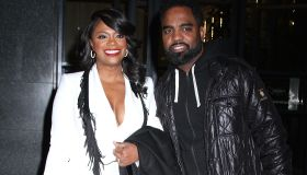 kandi burruss and todd tucker at watch what happens live in nyc
