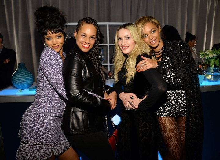 The Queens of the biz… Rihanna, Alicia Keys, Madonna, and Beyonce.