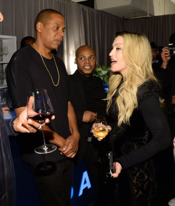 Jay Z has a conversation with Madonna.