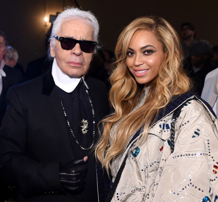 King Karl and Queen Bey chill out.