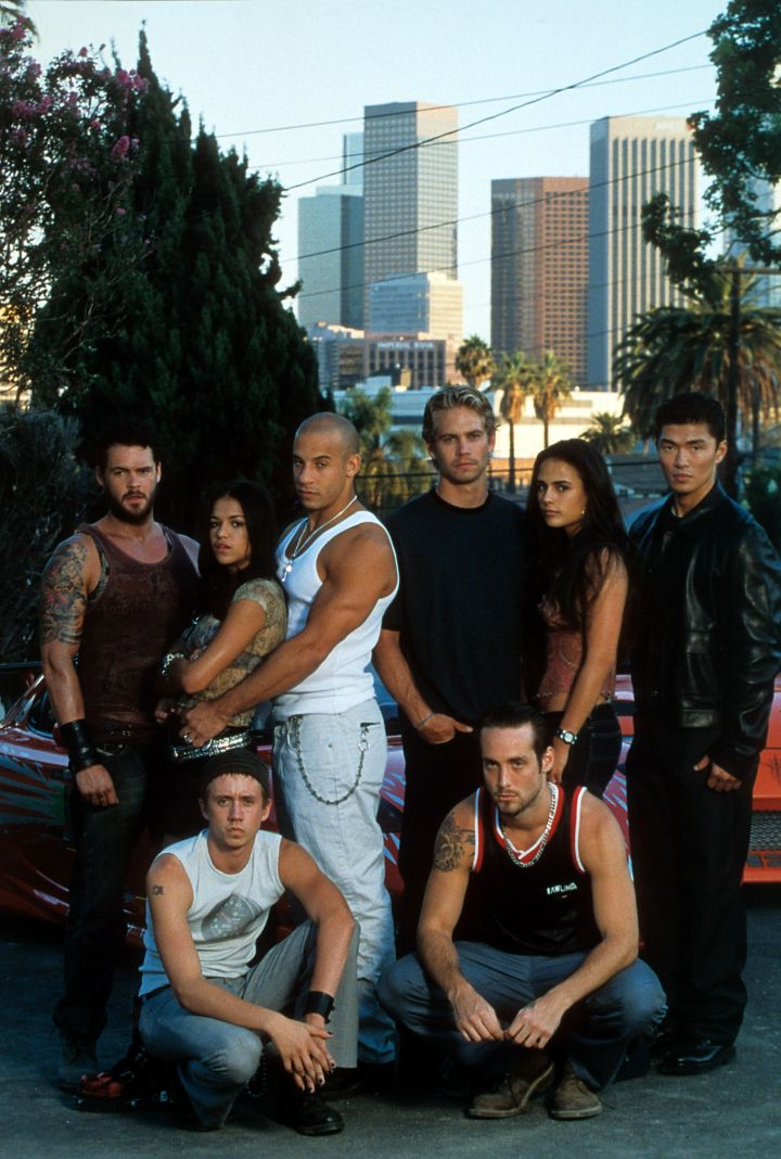 """""""The Fast and the Furious"""" Cast. (2001)"""
