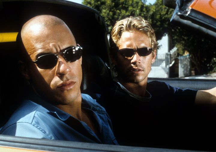 """Vin Diesel and Paul Walker in """"The Fast and the Furious."""" (2001)"""