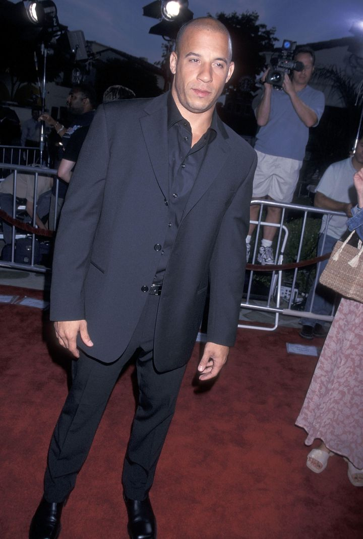 """Vin Diesel at """"The Fast and the Furious"""" movie premiere. (2001)"""