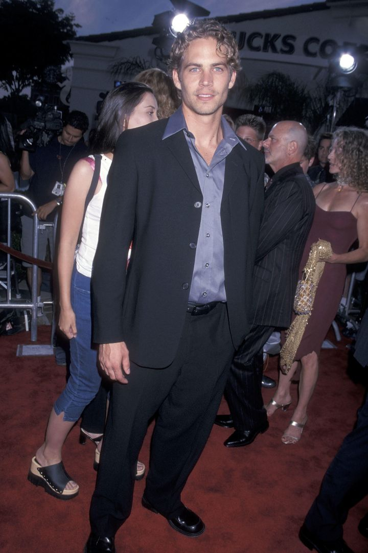 """Paul Walker at """"The Fast and the Furious"""" movie screening. (2001)"""
