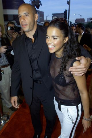 Jordana Brewster and Vin Diesel attends 'The Fast and the Furious'