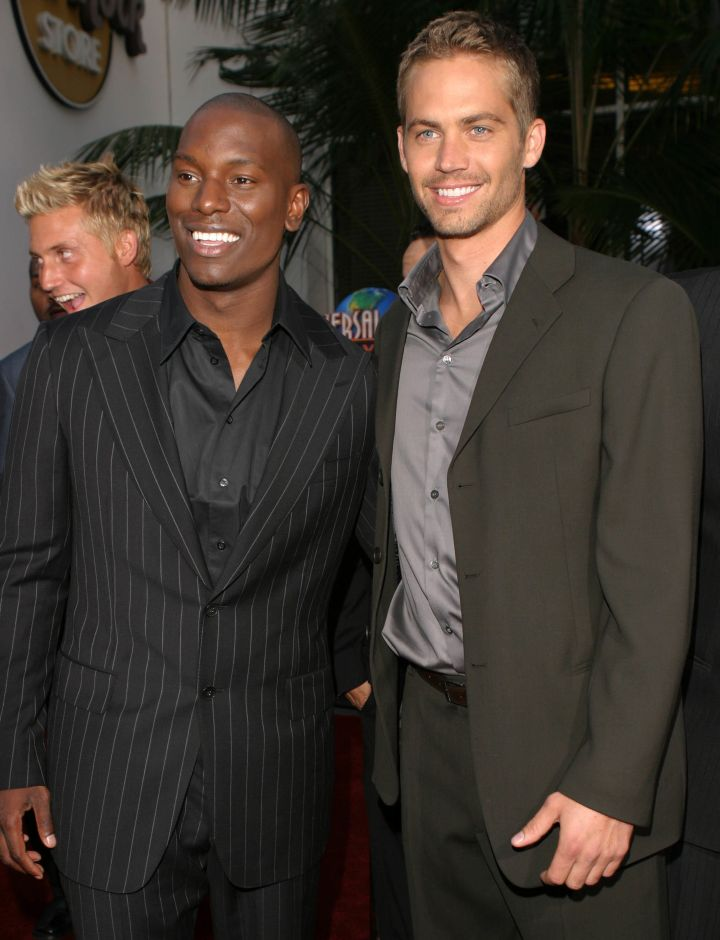 """Tyrese and Paul Walker at the premiere of """"2 Fast 2 Furious."""" (2003)"""