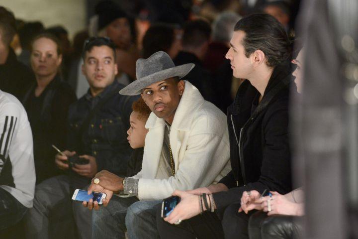 Loso watching Joso's back at Mercedes-Benz Fashion Week.