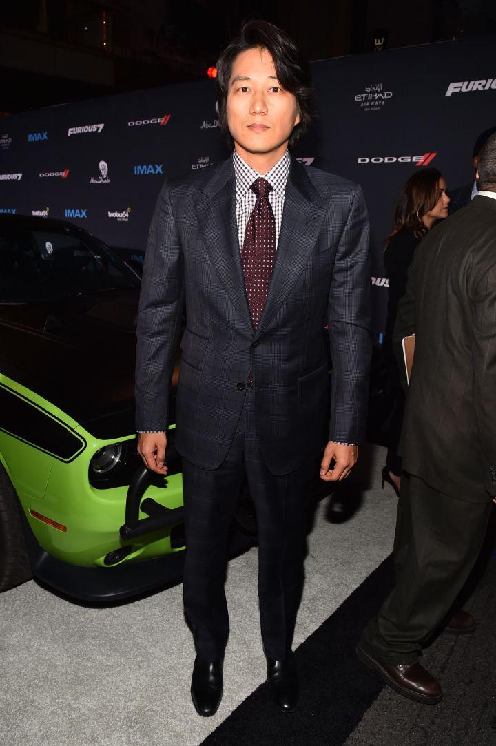 """Sung Kang at the """"Furious 7"""" premiere."""