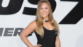 UFC fighter Ronda Rousey arrives at the Los Angeles Premiere 'Furious 7'
