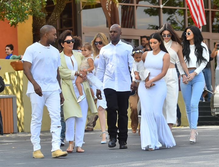 The entire Kardashian clan showed up for church with their babies, husbands, and boyfriends.