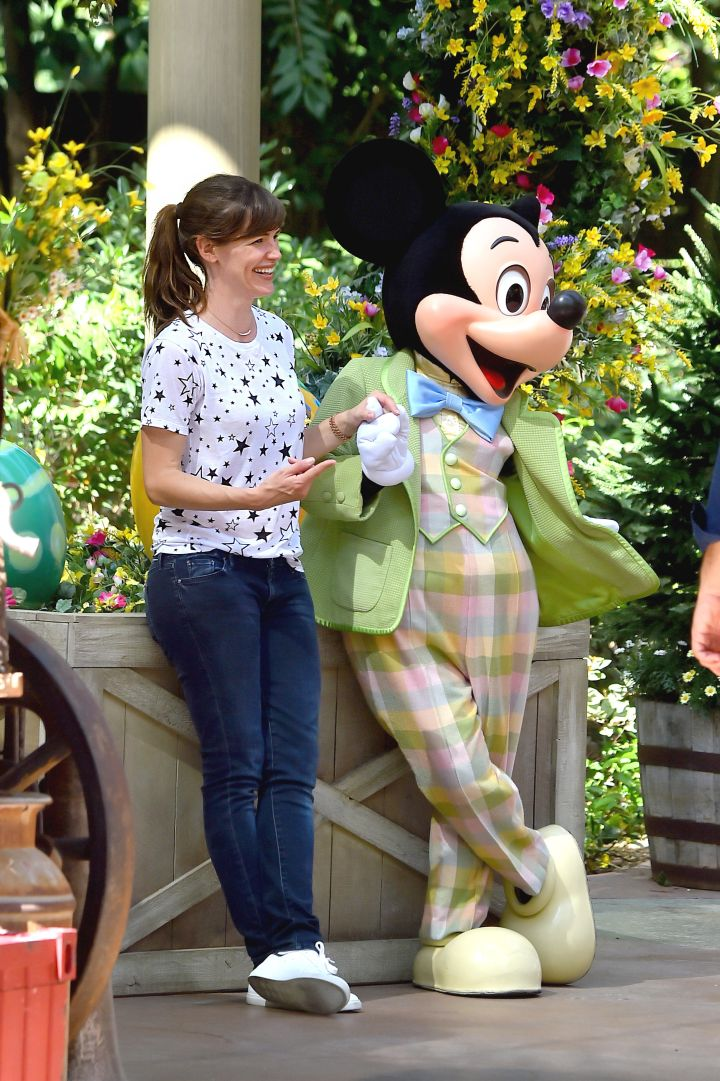 Jennifer Garner went to Disney World since her husband is Batman and all.
