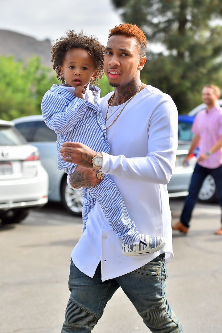 Tyga and King Cairo were fresh on Easter.