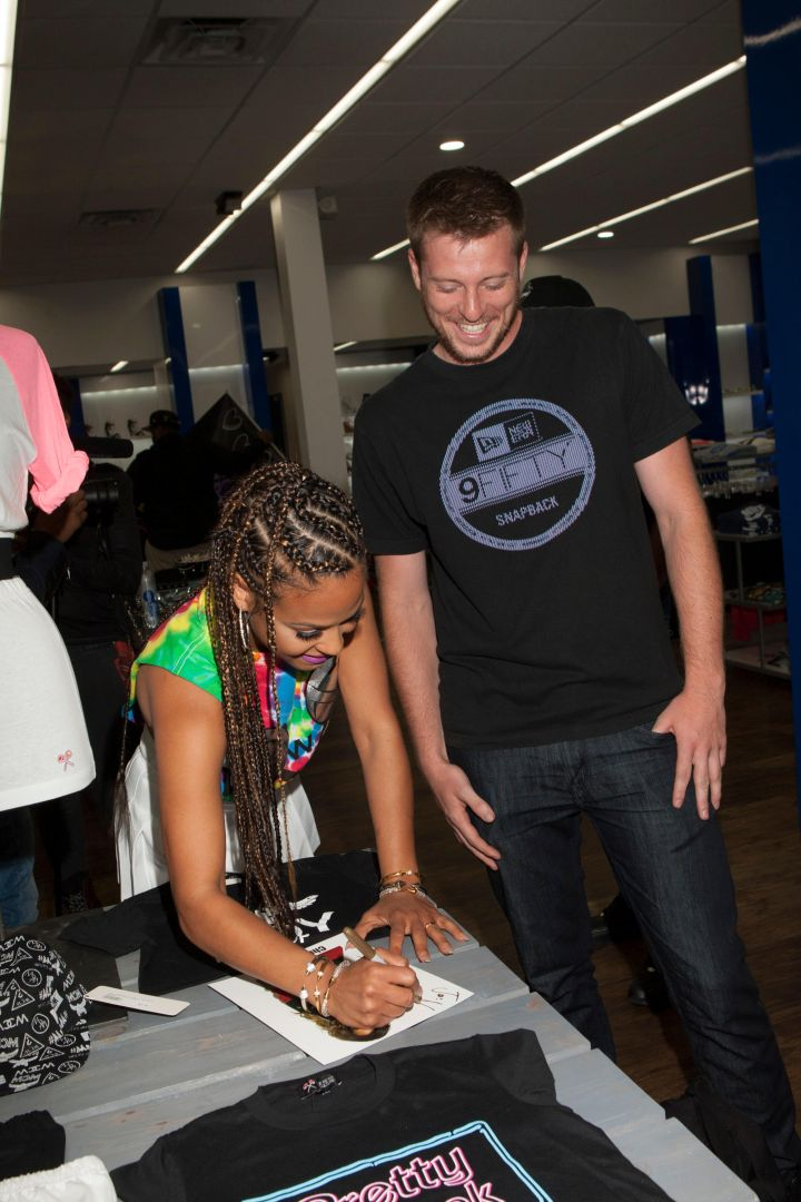 Christina Milian and fans at Shiekh Shoes in Hollywood to promote her new fashion line, We Are Pop Culture.