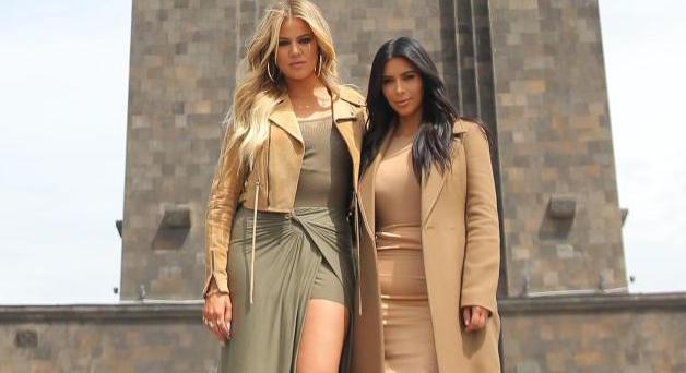 kim kardashian and khloe kardashian in Armenia