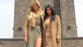 kim kardashian and khloe kardashian in Armenia