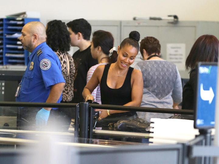 Jada Pinkett Smith shows off her unbelievable body as she catches a flight out of LAX.