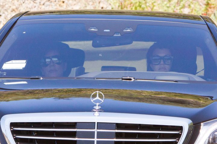 Kris Jenner and Kourtney Kardashian pay a visit to Bruce Jenner at his Malibu home.