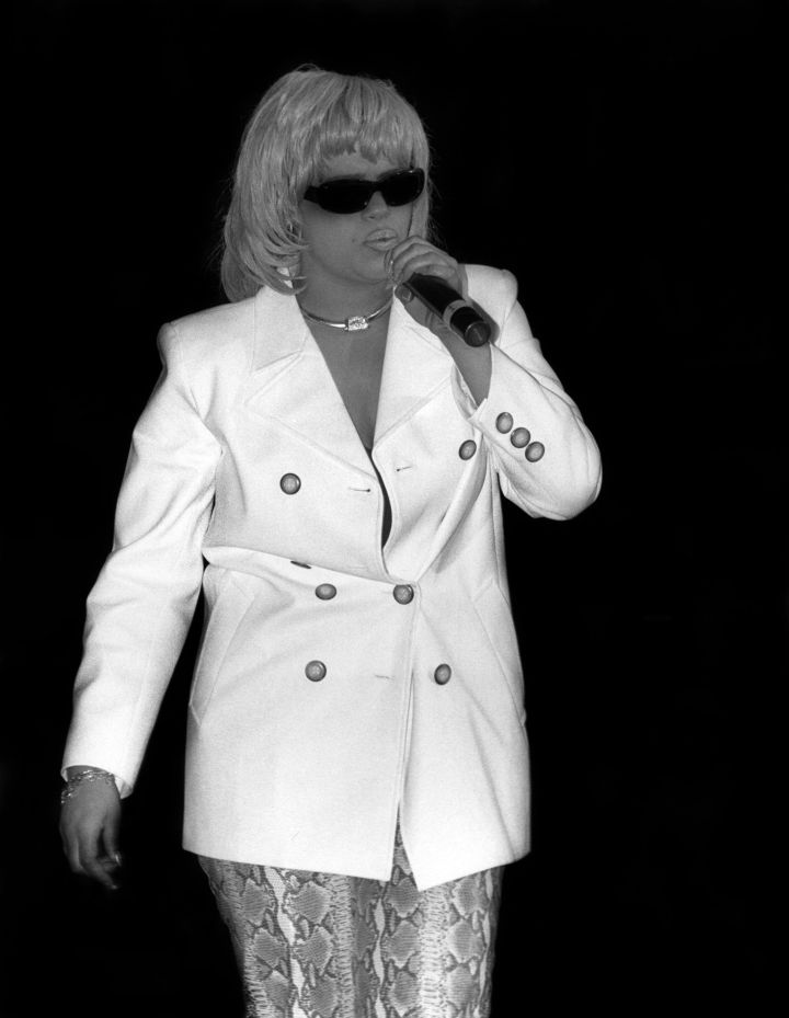 Faith Evans Performing In The '90s.