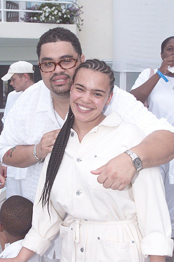 Heavy D & Faith Evans At Diddy's White Party.