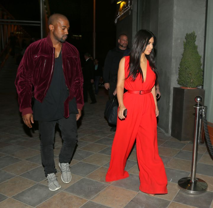 Kim K. looks stunning in red!