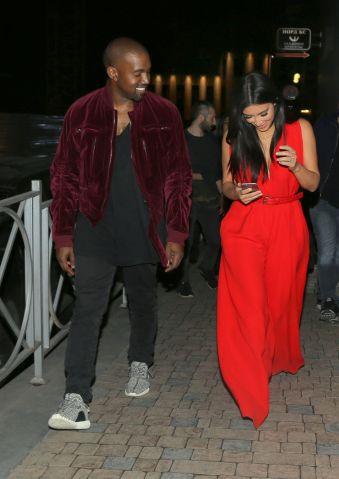Kim Kardashian & Kanye West share laughs during date night