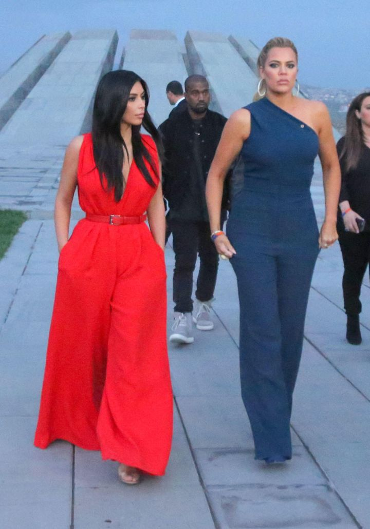 Kim Kardashian and Khloe are given a tour of the Armenian Genocide memorial