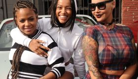 Amber Rose, Christina Milian, & Karrueche share laughs before heading to Coachella