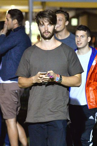 Patrick Schwarzenegger spotted hanging out at Coachella without Miley Cyrus