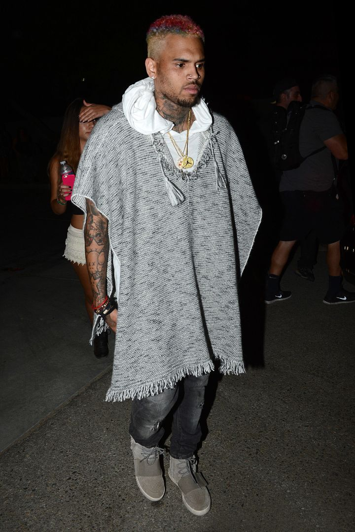 Chris Brown on his way to the Neon Festival