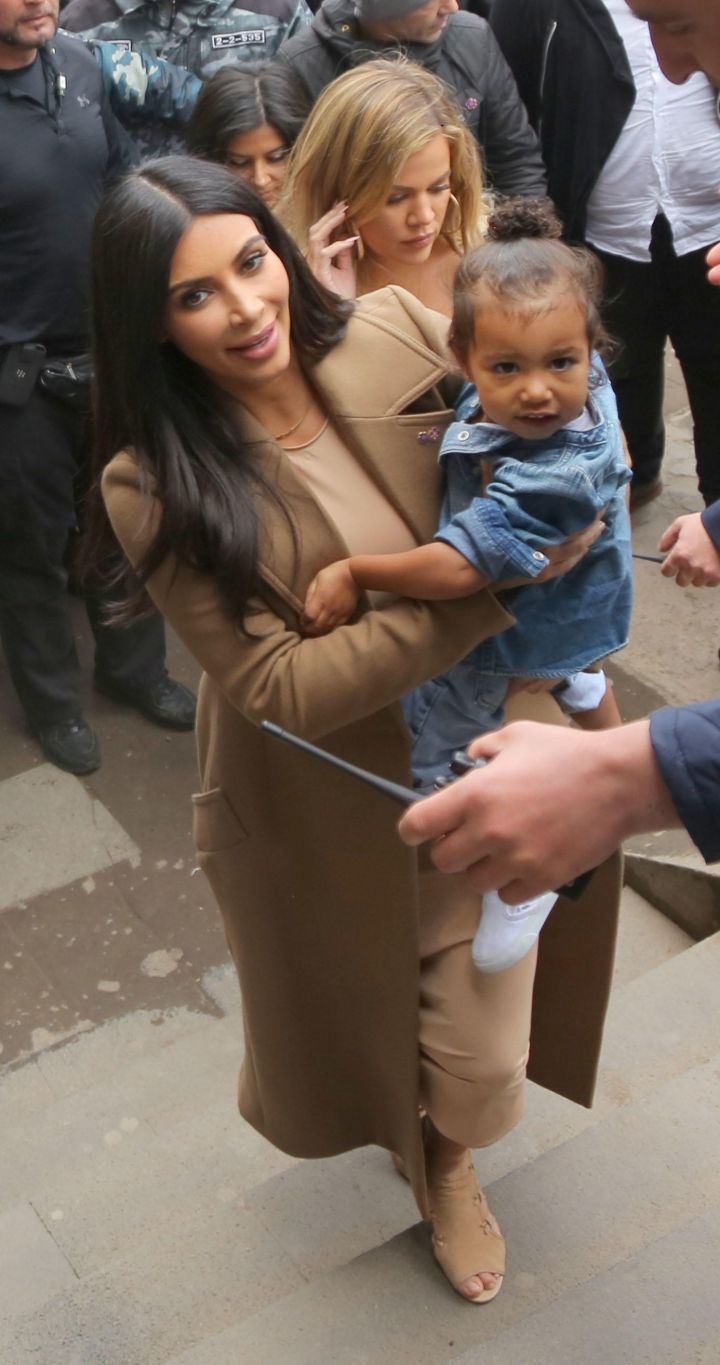 North protects her mom, just like dad would.