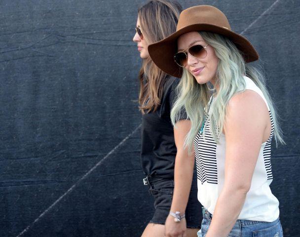 Hilary Duff spotted at Coachella