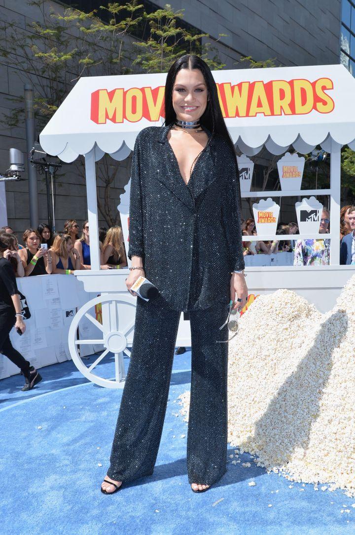 Jessie J sparkled in a dazzling two-piece set.