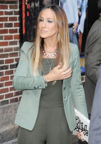 sarah jessica parker leaves The Late Show with David Letterman